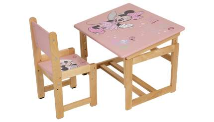 Комплект растущей детской мебели Polini Kids Disney baby 400 SM Минни Маус 68х55, розовый