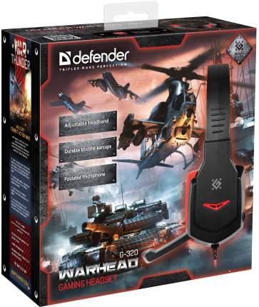 Игровые наушники Defender Warhead G-320 Black