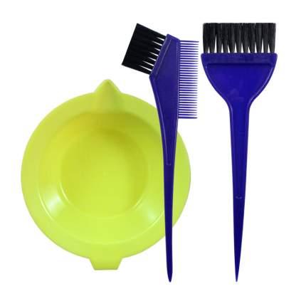 Набор для окраски волос LEI ванночка + 2 кисти (цвет в ассортименте)