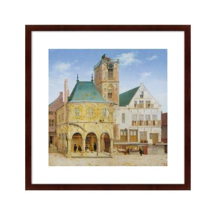 Картина The Old Town Hall of Amsterdam, 1657г,, 78,5х78,5см, Картины в Квартиру