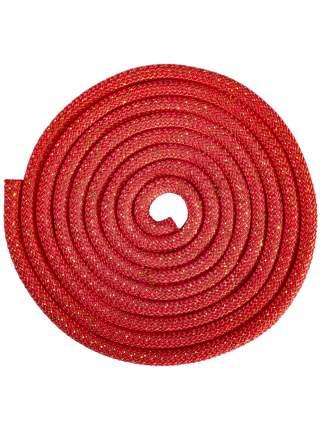 Скакалка для художественной гимнастики Amely RGJ-304, 3м, красный/золотой, с люрексом