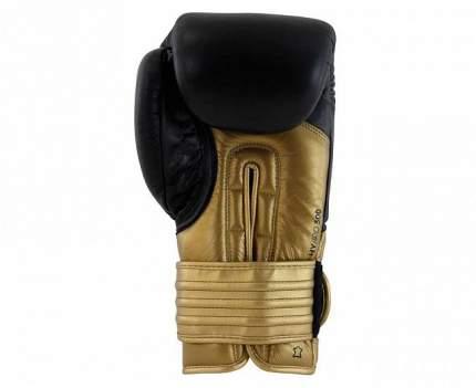 Боксерские перчатки Adidas Hybrid 300 черные/золотые 10 унций