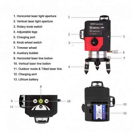 Лазерный нивелир DEKO LL12-HVR 065-0202