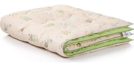 Одеяло Belashoff всесезонное 110x140 хлопок 100% компаньоны бежевый зеленый с рисунками