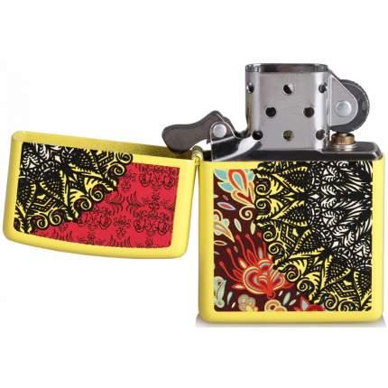 Зажигалка Zippo Boho 3 Desig Neon Yellow