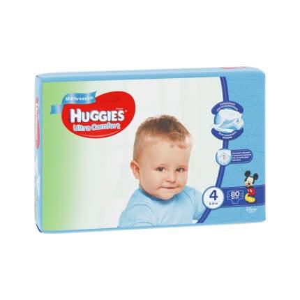 Подгузники Huggies Ultra Comfort для мальчиков 4 (8-14 кг), 80 шт.