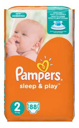 Подгузники Pampers Sleep & Play 2 (3-6 кг), 88 шт.