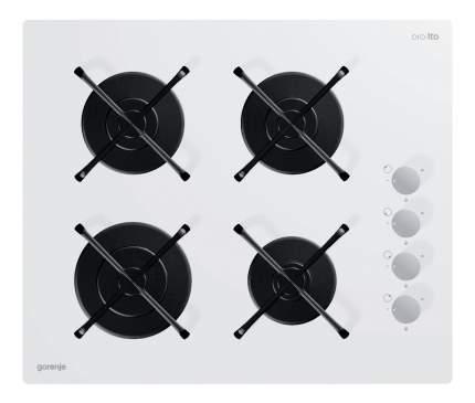 Встраиваемая варочная панель газовая Gorenje GHS64-ORA-W White