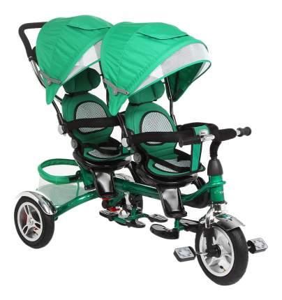 Велосипед трехколесный Capella Twist Trike 360 для двойни зеленый