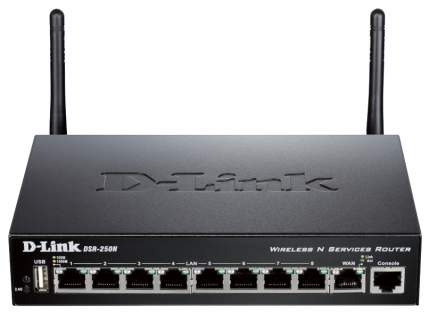 Сетевой экран D-Link DSR-250N Black