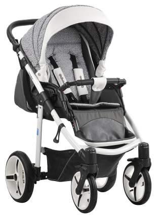 Прогулочная коляска Mr Sandman Traveler Premium Серый Серый Принт с белой кожей SL07