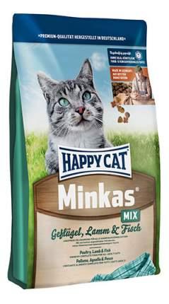 Сухой корм для кошек Happy Cat Minkas, домашняя птица, ягненок, рыба, 1,5кг