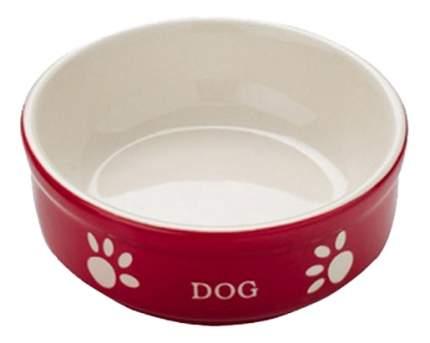 Одинарная миска для собак Nobby, керамика, белый, красный, 0.24 л