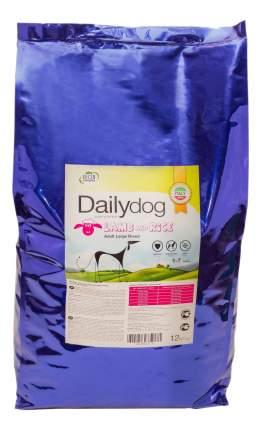 Сухой корм для собак Dailydog Adult Large Breed, для крупных пород, ягненок и рис, 12кг