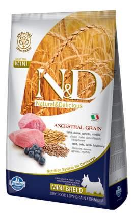 Сухой корм для собак Farmina N&D Mini, для мелких пород, ягненок и черника, 2,5кг