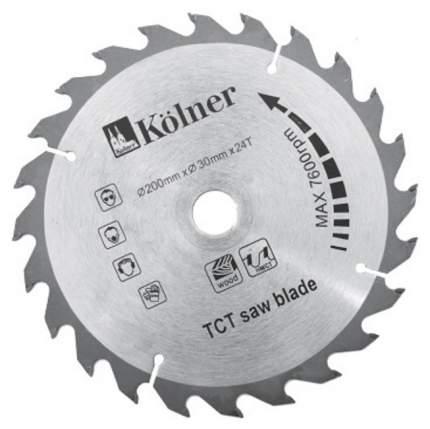 Диск пильный Kolner KSD200х30х24 серый (кн200-30-24)