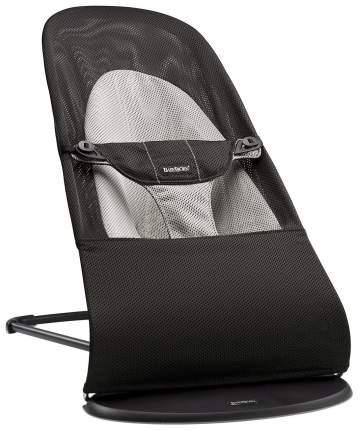 Шезлонг детский BabyBjorn Bouncer Balance Soft Черный/серый