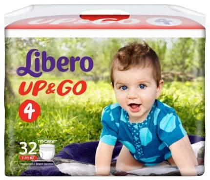 Подгузники-трусики Libero Up&Go Maxi 4 (7-11 кг), 18 шт.