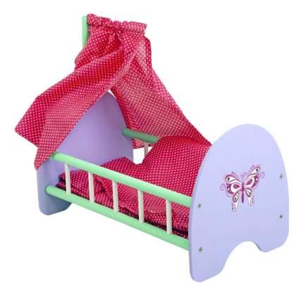 Кроватка с пологом Бабочка для кукол Mary Poppins