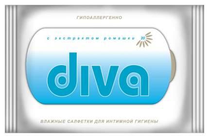 Влажные салфетки Diva для интимной гигиены 20 шт