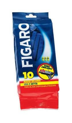 Станок для бритья FIGARO С двойным лезвием и смягчающей полоской 10шт