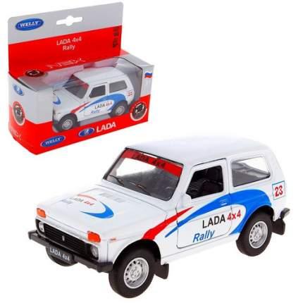 Модель машины Welly LADA 4x4 Rally 42386RY 1:34