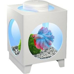 Аквариум для рыб Tetra Betta Projector, белый, 1,8 л