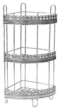 Полка для ванной Mayer&Boch 22032 Серебристый