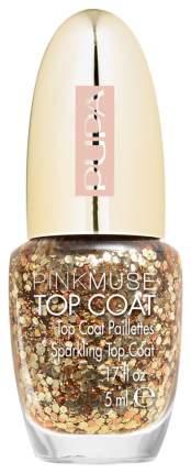 Верхнее покрытие для ногтей PUPA Pink Muse Top Coat 004 Light Gold 5 мл