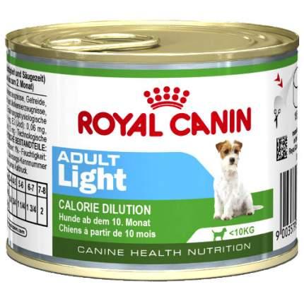 Консервы для собак ROYAL CANIN Adult Light, облегченный, курица, 195г