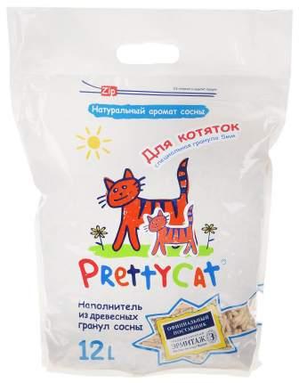 Впитывающий наполнитель для котят PrettyCat Wood Granules древесный, 4 кг, 12 л
