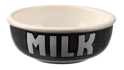 Одинарная миска для кошек и собак TRIXIE, керамика, черный, красный, 0,4 л