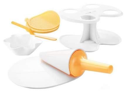 Набор для приготовления вафельных рожков Tescoma 643184 Желтый, белый