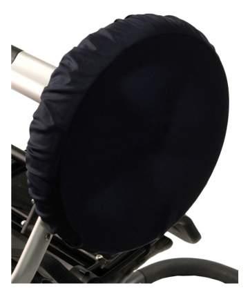 Чехол на колеса детской коляски Чудо-Чадо 4 шт. 28-38 см темно-синий