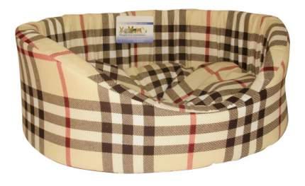 Лежанка для кошек и собак Бобровый Дворик №1, цвета в ассортименте, 42х35х16 см