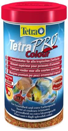 Корм для декоративных рыб Tetra Pro Color Crisps, улучшение окраса, чипсы, 500 мл