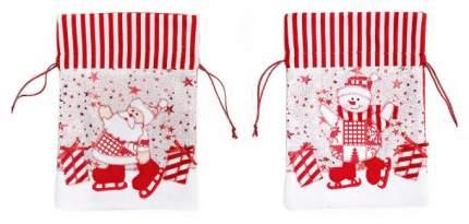 Мешок для подарков Новогодняя сказка 18x24 см
