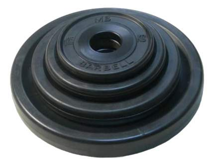 Блин обрезиненный MB Barbell Atlet 5 кг сталь DR-MBК51-5В 51 мм черный