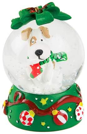 Снежный шар Kuchenland Christmas lantern Собака зеленая 4,5 см