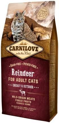 Сухой корм для кошек Carnilove Energy & Outdoor, для активных уличных, оленина, 6кг