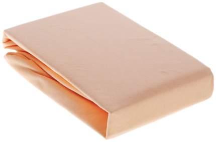 Простынь трикотаж на резинке Ol-tex 180х200 персиковый