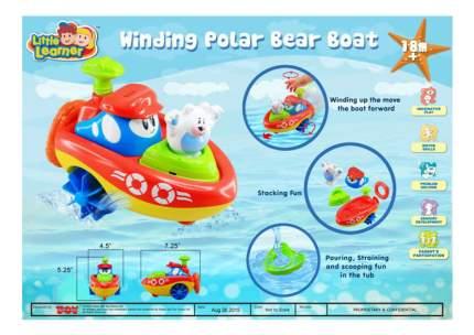 Заводная игрушка для ванны Кораблик - Полярный медведь Happy Kid Toy 4325