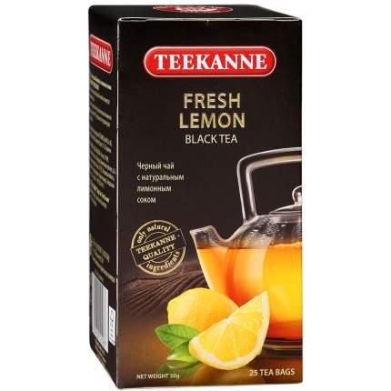 Чай черный Teekanne fresh lemon с лимонным соком 25 пакетиков