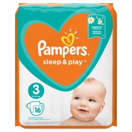 Подгузники Pampers Sleep & Play Midi (6-10 кг) Стандартная 16 шт.