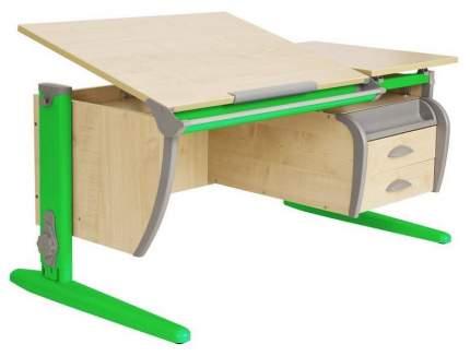 Парта Дэми СУТ 17-05Д с задней, двухъярусной задней и боковой приставками Зеленый 120 см