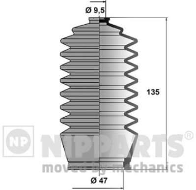Пыльник рулевой рейки Nipparts J2842002