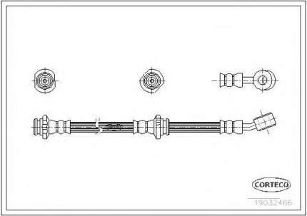Шланг тормозной системы Corteco 19032466