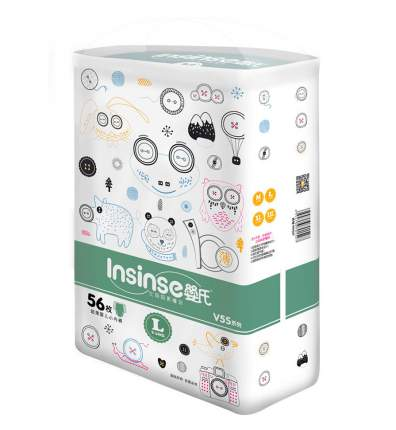 Подгузники INSINSE V5S трусики (9-14кг) 56 шт. L