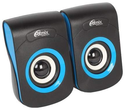 Колонки компьютерные RITMIX SP-2060 Black-Blue 2,0, 2x3 Вт, 20-18000 Гц, mini Jack, USB