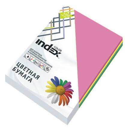 """Бумага цветная """"Index Color"""", А4, 80 г/м2, 5 цветов по 50 листов"""